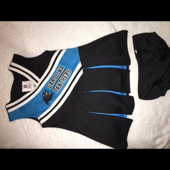 Girls NFL Carolina Panthers cheer set ace8ae809